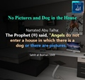 Angels do not enter a house in which there is a dog or pictures - Sahih al Bukhari 5949