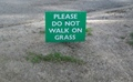 please dont walk on grass