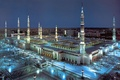 Masjid Nabawi evening aerial 2 Madinah