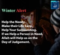 Winter Alert - Help the needy