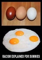 Racism explained for dummies - Egg yours outer and inner