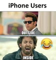 Iphone users Inside and Outside