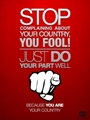 stop complaining about your country