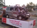 Donate blood but not on road