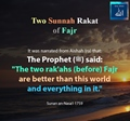 Two rakaah before Fajr are better than this world and everything in it - Hadith - Sunan Nasai - 1759