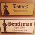 Ladies vs Gents toilet