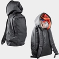 back bag with hood