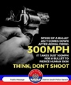 Aerial Firing - Speed of bullet when comes down 300mph. Think. Dont Shoot