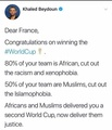 France Worldcup winning team have Africans and Muslims France now Deliver them Justice
