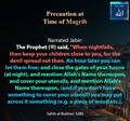 Precautions at Time of Maghrib - Sahih al Bukhari 3280