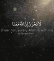 Fear not, surely Allah is with us - Al Tawbah - 9-40