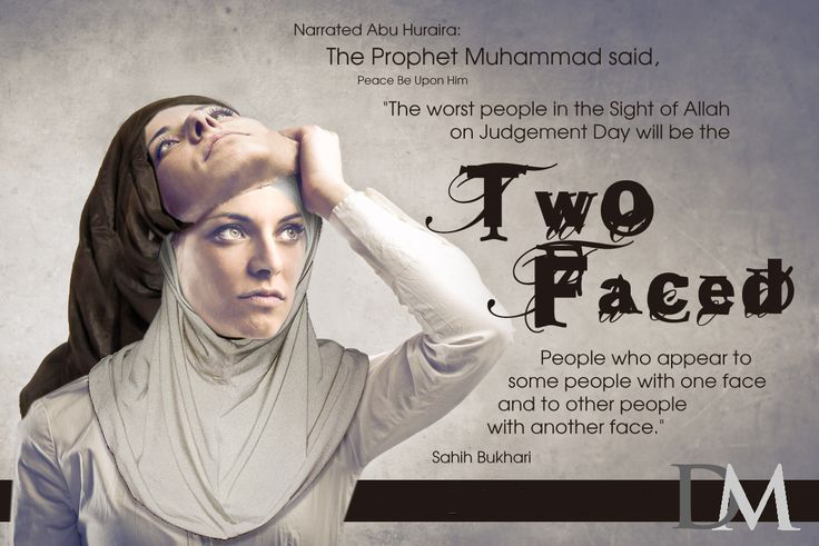 Two faced people are worst in sight of Allah on Judgement Day hadith