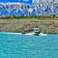 A Boat in Attabad Lake - Gilgit Baltistan - Pakistan