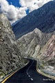A beautiful view of worlds highest t paved road Karakoram Highway - Pakistan